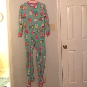 Owl Footie Pajamas Onesie Fleece PJ's Large